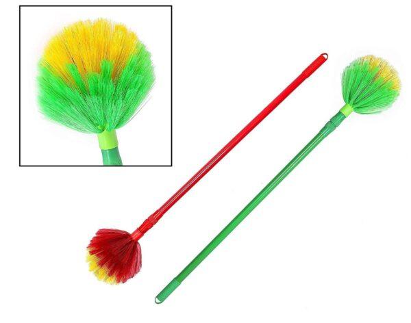 plastic bristles foldable round broom