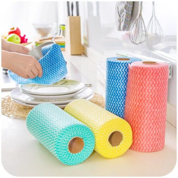 disposable cleaning cloths on a roll blessedfriday