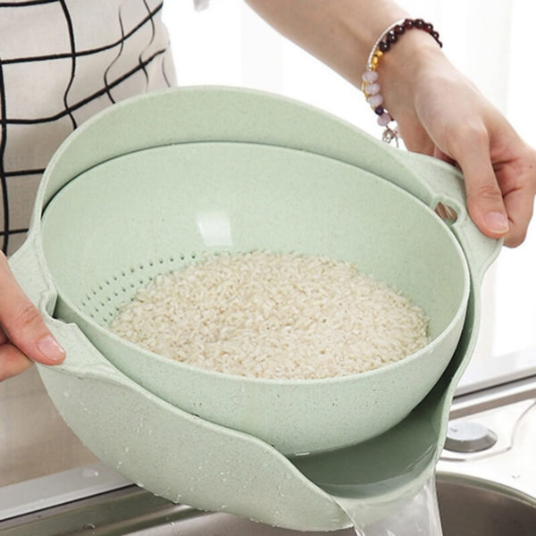 Double Drain Basket for rice in pakistan blessedfriday