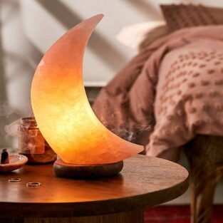Himalayan Salt Lamp Moon Shape BlessedFriday.pk