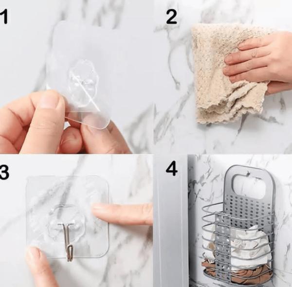 folding plastic laundry basket