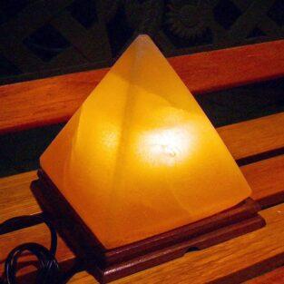 Himalayan Salt Lamp with Wood Base BlessedFriday.pk