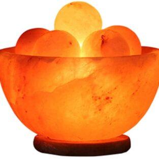 Himalayan Fire Bowl Shape Rock Salt Lamp BlessedFriday