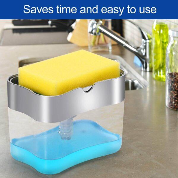 Sponge rack soap dispenser blessedfriday