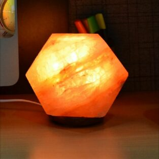 Pink Salt Lamp with Wooden Base Price in Pakistan