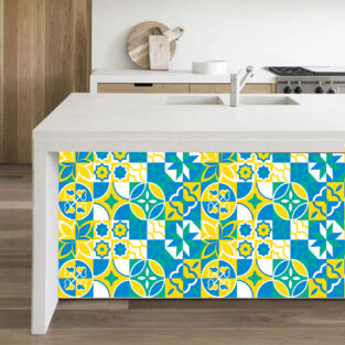 Yellow Textured Tile Stickers in Pakistan BlessesdFriday.pk