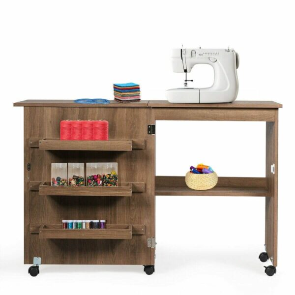 wooden foldable sewing table blessedfriday