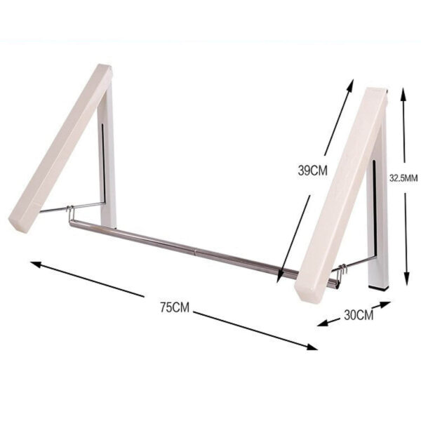 size of wall mounted clothes hanger