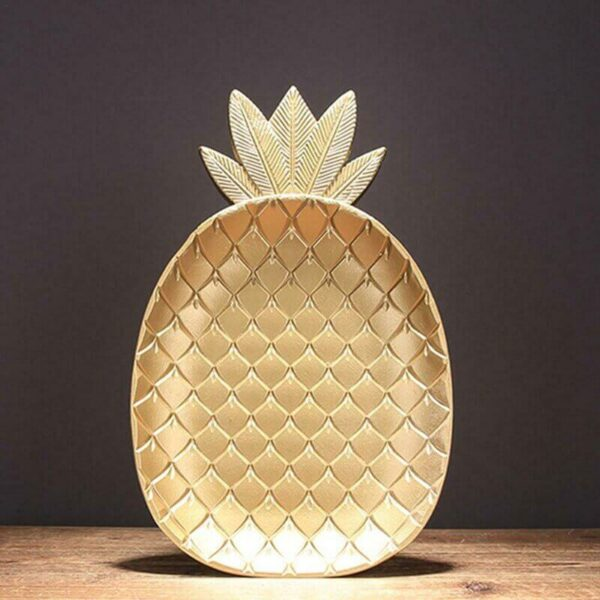gold plated wooden plates pineapple