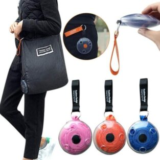 black reusable folding shopping bags blessedfriday