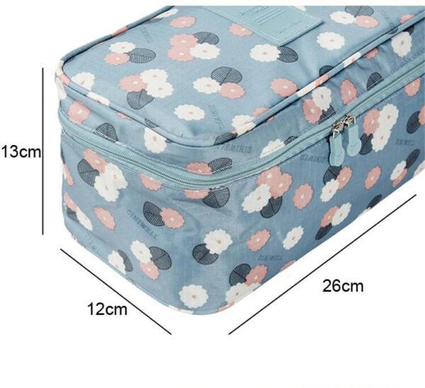 size of underwear travel pouch organizer