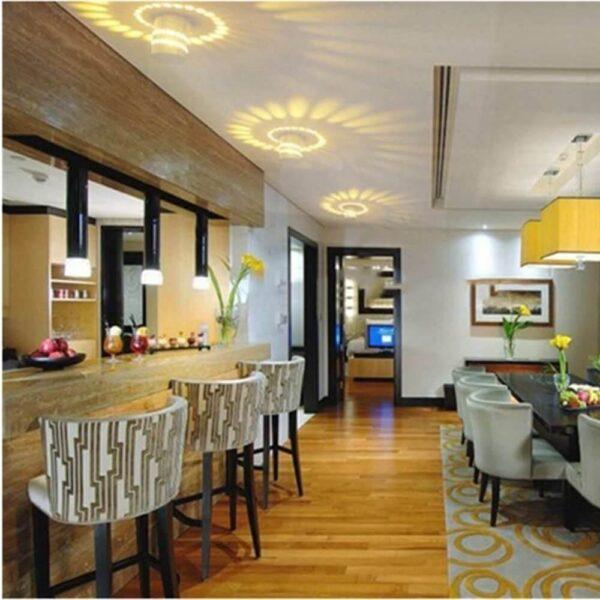 multi color home decorative spiral LED