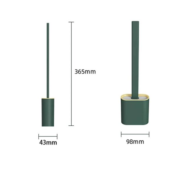 size of best silicone toilet brush