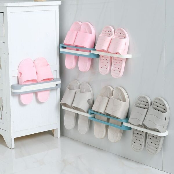 3 in 1 drill-free slippers bathroom rack blessedfriday.pk