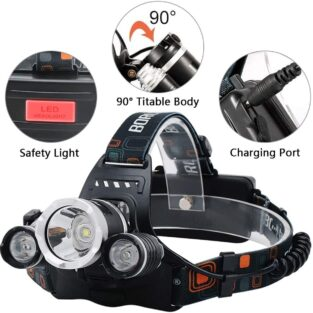 3 Modes Tactical Headlight with AAA Batteries BlessedFriday