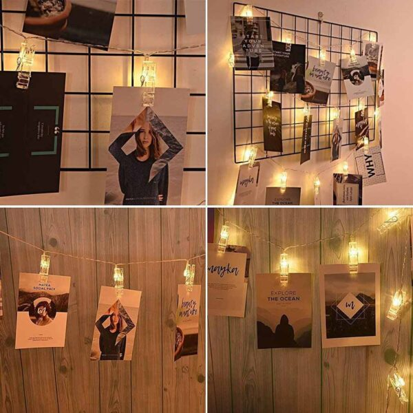 5M 20 LED Photo Clip String Lights BlessedFriday.pk