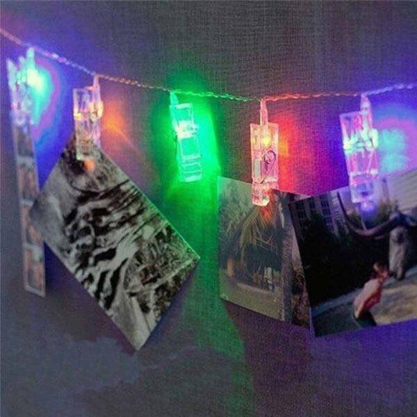 bedroom photo clip string lights