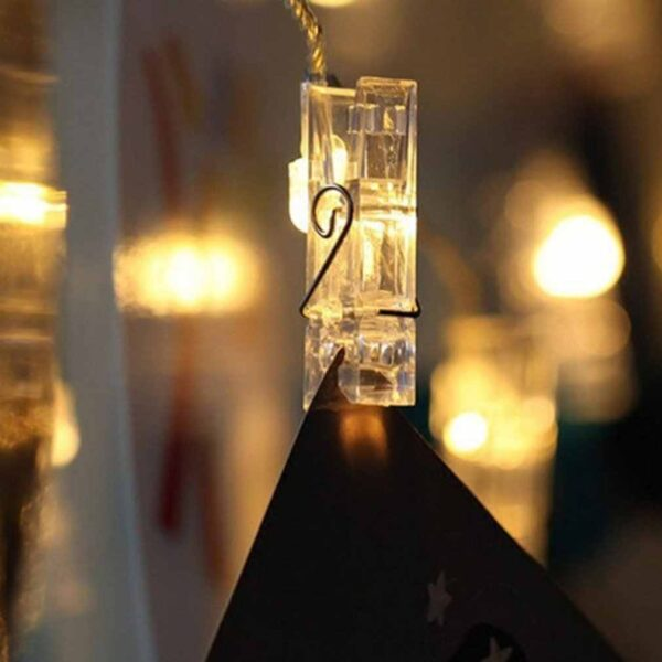 Remote Control Fairy String Lights for Bedroom Hanging Photos