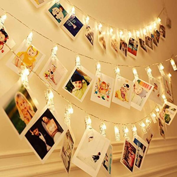 Led Photo Clip Battery Powered Garland String Lights