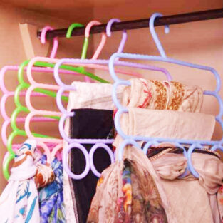 Anti-Slip 3 Layers & 5 Hole Scarf Hanger BlessedFriday.pk