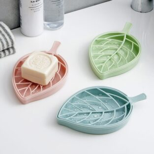 Double Layer Leaf Shape Soap Holder BlessedFriday.pk