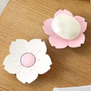 Sakura Flower Shaped Soap Holder BlessedFriday.pk