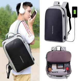 Anti Theft Causal Backpack USB Charging Port BlessedFriday.pk