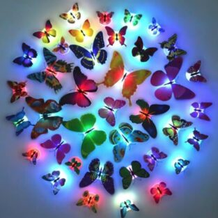 butterfly led lights wall stickers