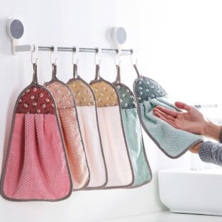 hanging kitchen towels with ties