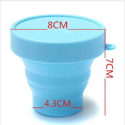 foldable travel cup glass cup with lid