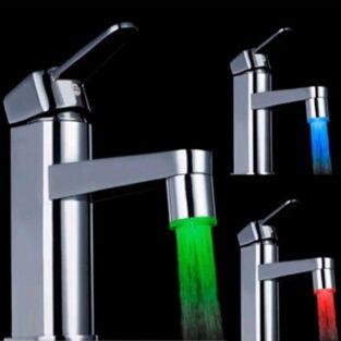 emperature sensitive led faucet light