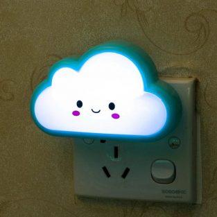 Cartoon Cloud Energy-saving US Plug LED Night Light Bedside Lamp Home Decor