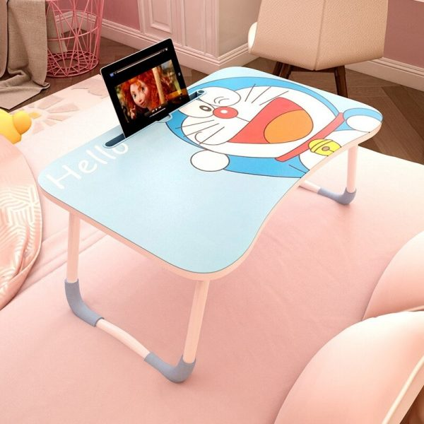 foldable computer desk small lazy laptop table for small space