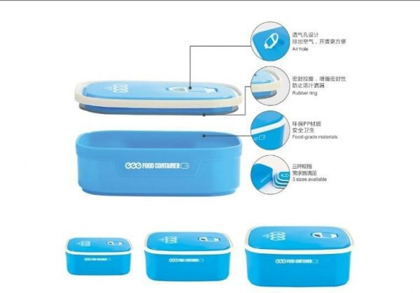 rectangle food container with lid