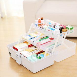 medicine storage box with lock