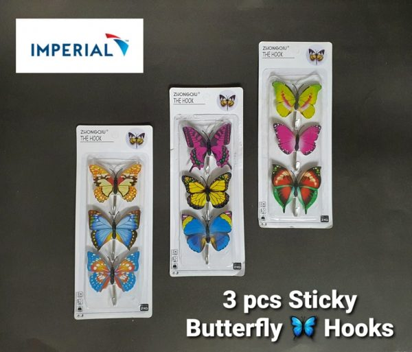 3pcs stick butterfly hook in pakistan blessedfriday.pk