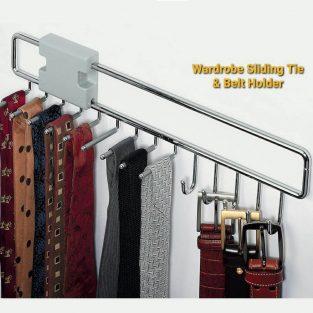 tie and belt rack wall mount