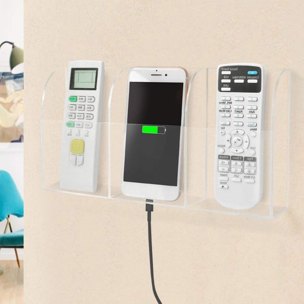 remote holder for wall home
